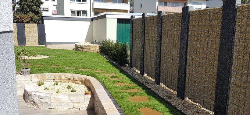 Sichtschutz Gabionen Heidelberg Leimen Gartenbau