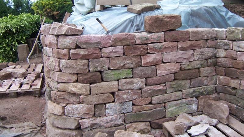 Trockenmauer Naturstein Sandstein Heidelberg Leimen
