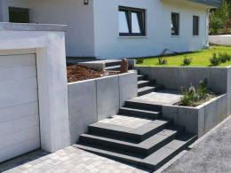 Gestaltung Eingangsbereich Leimen Treppen Sichtschutz Pflanzung